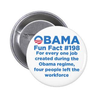 Datos divertidos de Obama Pin Redondo 5 Cm