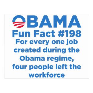 Datos divertidos de Obama Postales