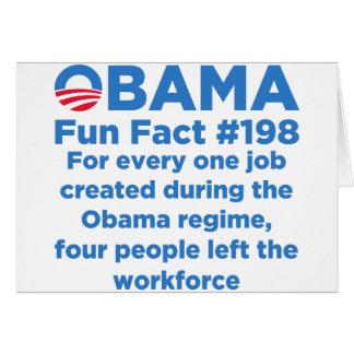 Datos divertidos de Obama Tarjeta De Felicitación