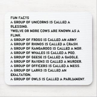 Datos divertidos alfombrilla de raton