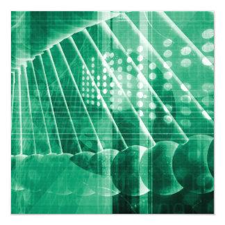 """Datos farmacéuticos de la investigación como arte invitación 5.25"""" x 5.25"""""""