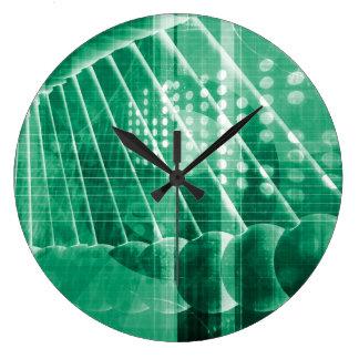 Datos farmacéuticos de la investigación como arte reloj redondo grande