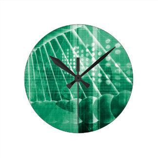 Datos farmacéuticos de la investigación como arte reloj redondo mediano
