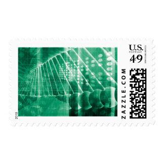 Datos farmacéuticos de la investigación como arte sellos postales