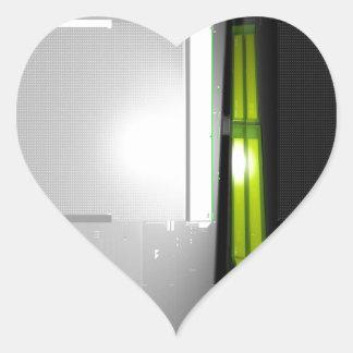 Datos frescos abstractos del ordenador pegatina de corazón personalizadas