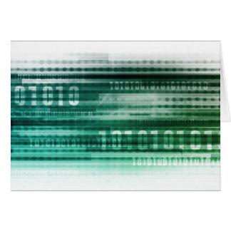 Datos y computación grandes de la nube tarjeta pequeña