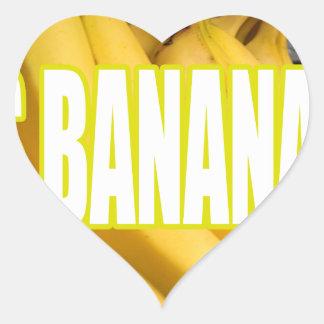 Dats Bananas Yo Heart Sticker