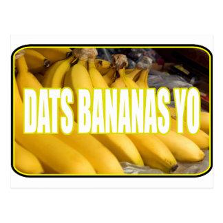 Dats Bananas Yo Postcard