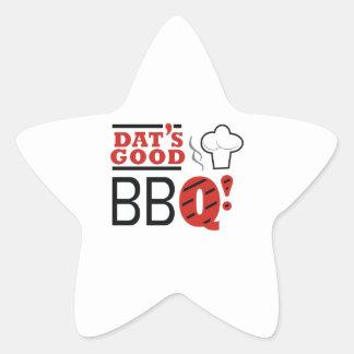 DATS GOOD BBQ STAR STICKER