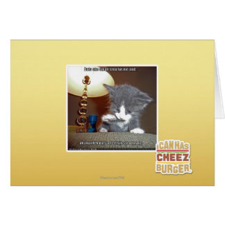 Dats one small step fur me greeting card