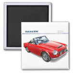 Datsun 2000 fairlady roadster 2 inch square magnet