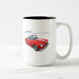 Datsun 2000 fairlady roadster Two-Tone coffee mug