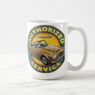 Datsun 2000 roadster service sign mugs