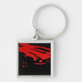 Datsun 240Z Detail, Red on dark Keychain