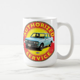 Datsun 510 authorized service sign coffee mug