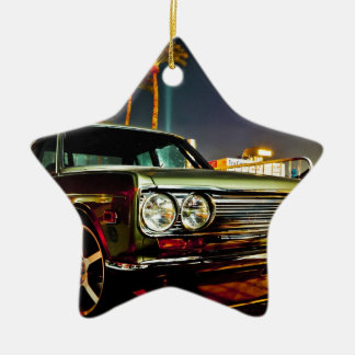Datsun Bluebird SSS  510 coupe Double-Sided Star Ceramic Christmas Ornament