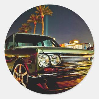 Datsun Bluebird SSS  510 coupe Classic Round Sticker