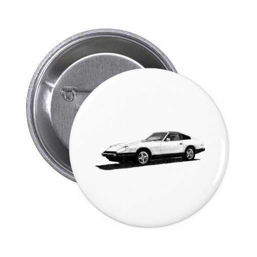 Datsun/ejemplo de Nissan 280ZX Pin Redondo 5 Cm