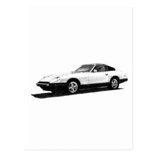 Datsun Nissan 280ZX Illustration Post Cards