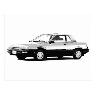 Datsun Nissan Pulsar EXA Turbo 1984 Postcard