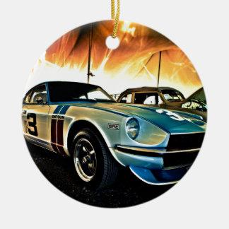 Datsun Z Race car Ceramic Ornament