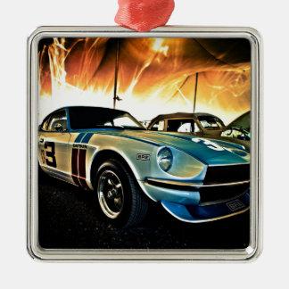 Datsun Z Race car Metal Ornament