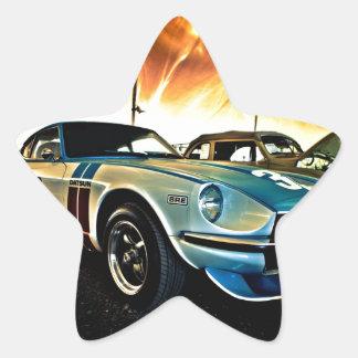 Datsun Z Race car Star Sticker