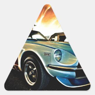 Datsun Z Race car Triangle Sticker