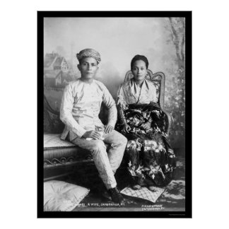 Datto Mandi and His Wife in the Philippines 1903 Poster