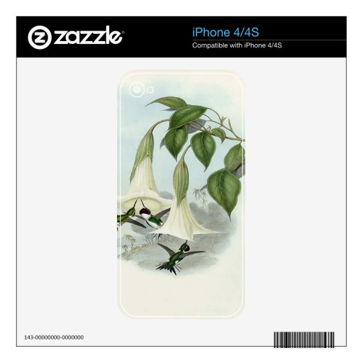Datura and Hummingbird Skins For iPhone 4S