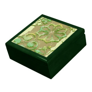 DAUBED CIRCLE DESIGNS Keepsake Box