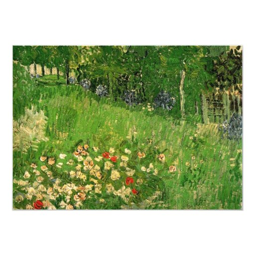Daubigny's Garden by Vincent van Gogh Personalized Invite