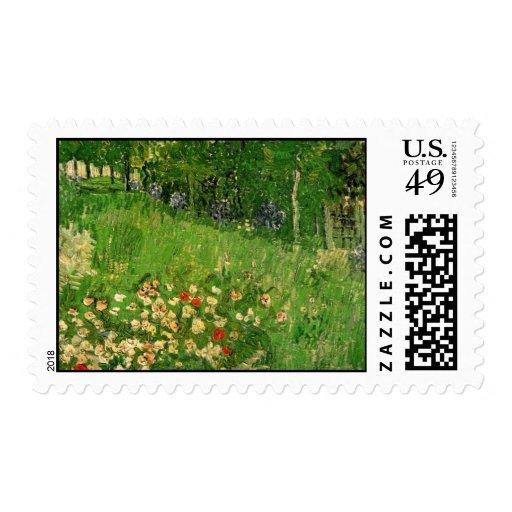 Daubigny's Garden by Vincent van Gogh Stamp