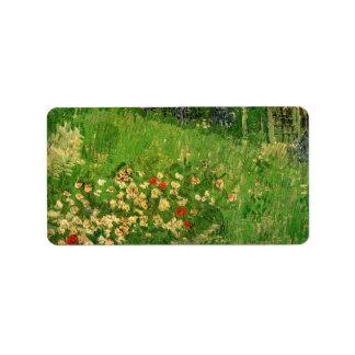 Daubigny's Garden by Vincent van Gogh, Vintage Art Label