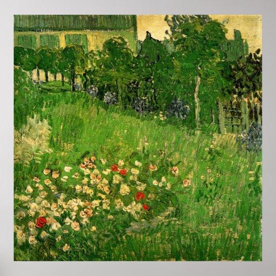 Daubigny's Garden by Vincent van Gogh, Vintage Art Poster