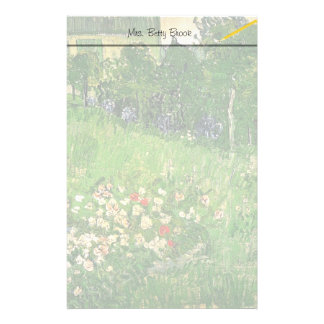 Daubigny's Garden, Vincent Van Gogh. beautiful Stationery