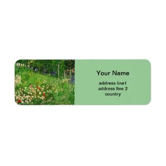 Daubigny's Garden, Vincent van Gogh Label