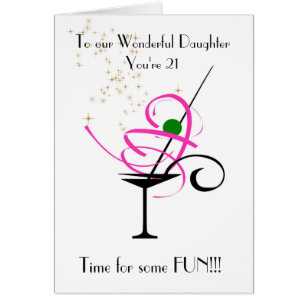 Daughters 21st birthday cards greeting photo cards zazzle daughter 21st birthday card bookmarktalkfo Images