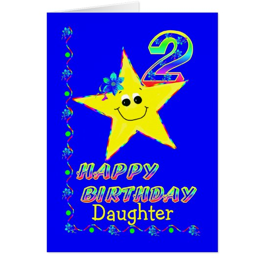 Daughter 2nd Birthday Star Card