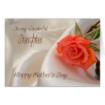 Daughter, a Mother's day card with a pink rose