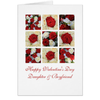 Daughter and Boyfriend Happy Valentine's Day Roses Card