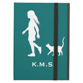 Daughter and Cat: Little Girl and her Kitty iPad Air Cover