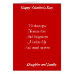 Daughter and family valentine's day greeting card