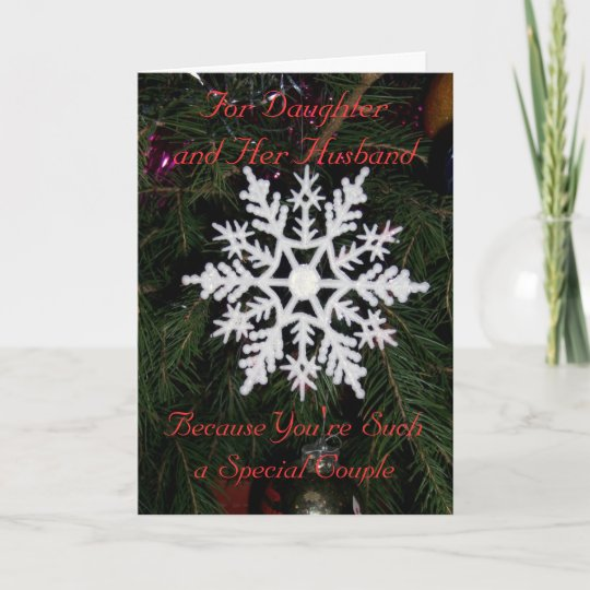 Husband Christmas Cards.Daughter And Husband Christmas Card Snowflake