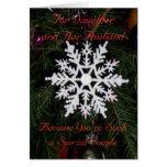 Daughter And Husband Christmas Card Snowflake