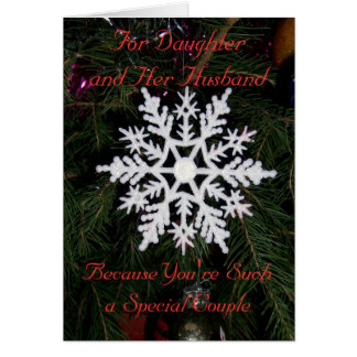 Daughter And Husband Christmas Card Snowflake