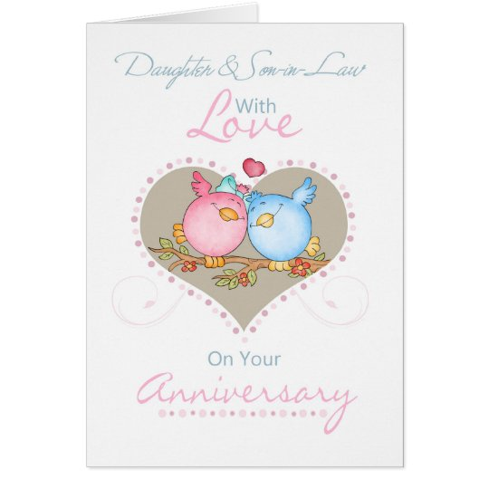 daughter and soninlaw anniversary card with love