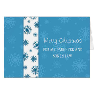 Daughter and Son in Law Merry Christmas Card