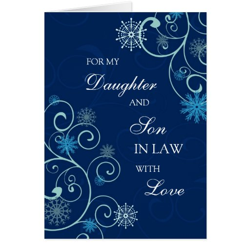 Daughter and Son in Law Merry Christmas Card | Zazzle