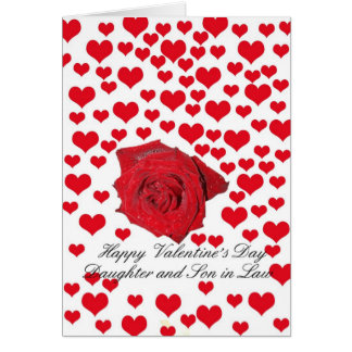 Daughter and Son in Law Valentine´s Day Greeting Card